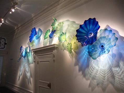 sea style crystal blue color spa wall decor chihuly art