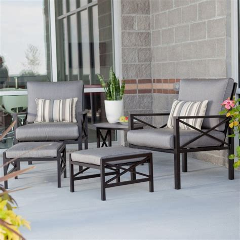 outdoor balcony chat set contemporary patio