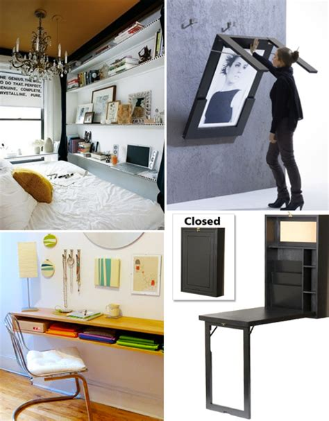 desks small apartments small space hacks 24 tricks for living in tiny apartments