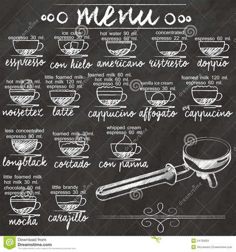 Breakfast Bar Ideas Small Kitchen menu coffee on chalkboard stock vector image 54730263