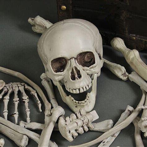 sexy haunted house 28pcs adult skeleton bone grave skull halloween haunted