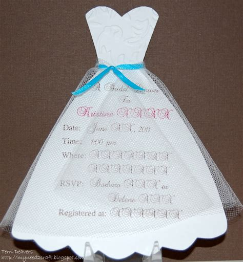 Dress Template Myneed2craft Bridal Shower Invitations Cards Pinterest Shower Baby Shower Dress Invitation Template