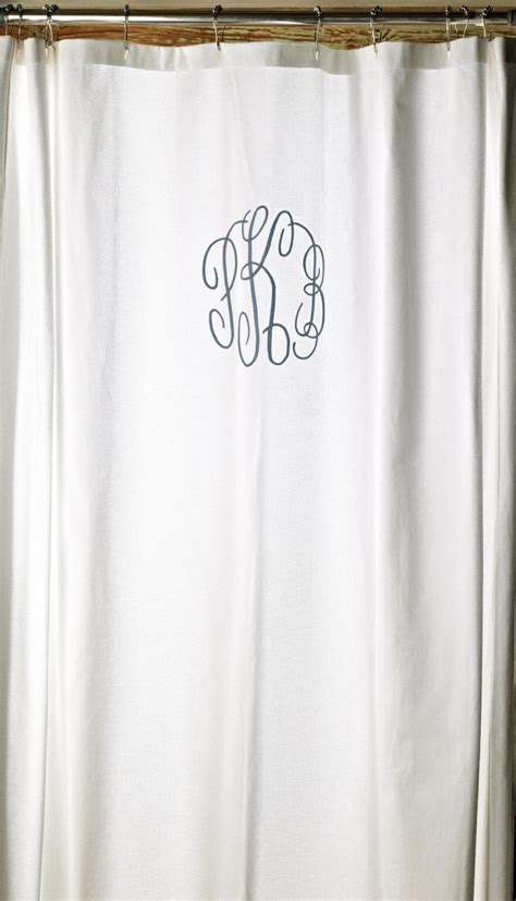 Monogrammed Shower Curtains Monogrammed Shower Curtain Products I Pinterest