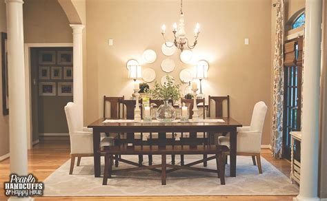 Dining Room Trellis Rug Pearls Handcuffs And Happy Hour Home Tour Tuesday The