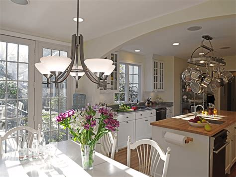 kitchen table lights Kitchen Transitional with farmhouse