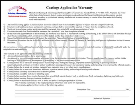 Warranty Reno Painting Contractor Guarantee Flooring Installation Warranty Template