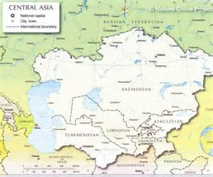 map of central asia map of central asia traveling with the professor