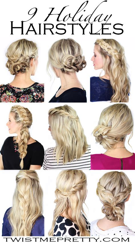 fishtail braided christmas holiday hairstyles long