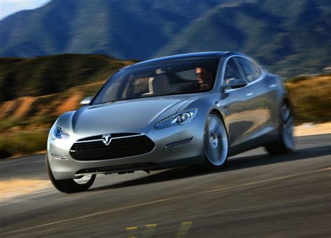 Electric Car Tesla New Pics Of The Tesla Model S Electric Luxury Car Ign