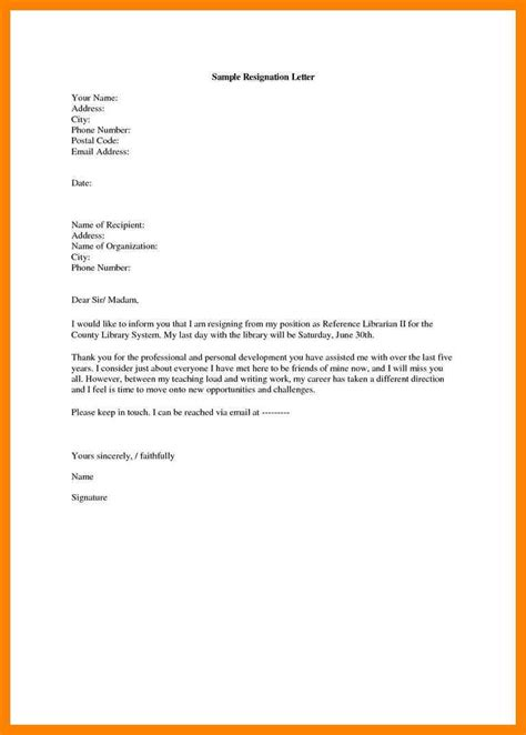 Resign Letter Model by 7 How To Write A Resignation Letter Exle Riobrazil