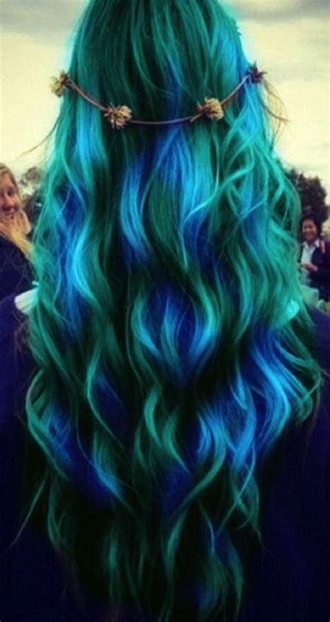 imagenes de mechas verdes imagenes de color de mechones en el cabello