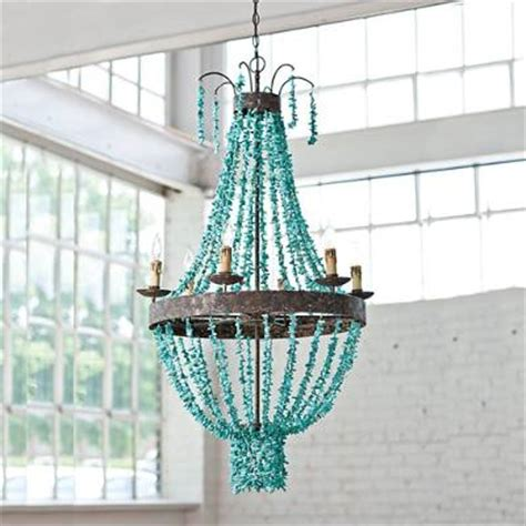 turquoise chandelier beaded turquoise chandelier frontgate