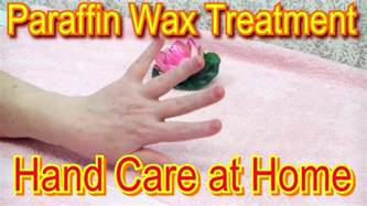 paraffin wax treatment for handcare routine at