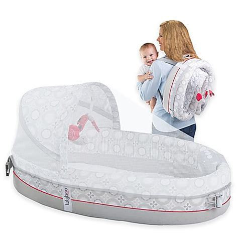 baby travel bed lulyboo 174 baby lounge lights music travel bed in grey red