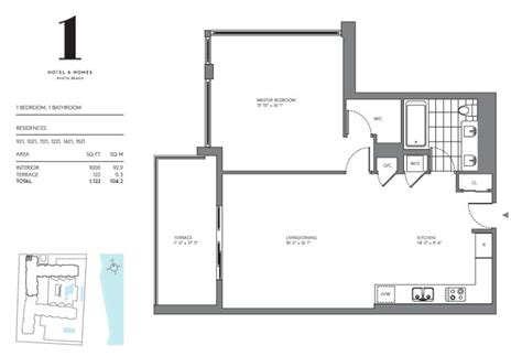 one hotels homes floor plans miami florida