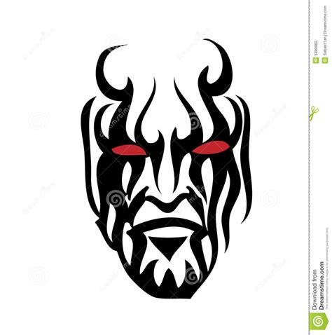 tribal face stock vector image of isolated creative