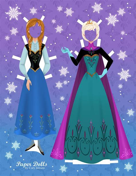 Make Paper Doll - get these disney inspired frozen paper dolls free
