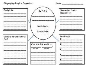 biography structure template biography graphic organizer elementary reading