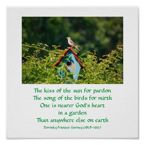 Garden Of Poem God S Garden Poem Poster Print Zazzle