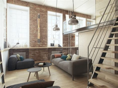 petit appartement avec une decoration minimaliste industrielle