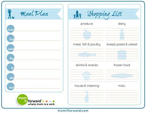 printable family dinner planner printable meal planning chart calendar template 2016