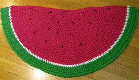 watermelon kitchen rugs watermelon rug by memajojos on etsy