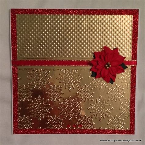 handmade gold embossed card