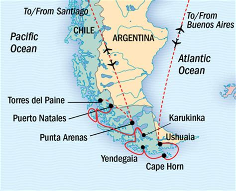 cape horn map patagonian treasures from torres paine to cape horn