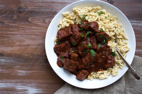 Eat In Island Kitchen by Beef Goulash With Einkorn Spaetzle And An Immigrant S