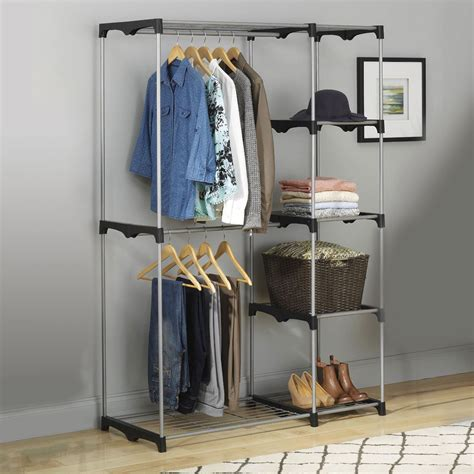 Sell Closet by Rod Freestanding Portable Clothes Wardrobe Closet Organizer Storage Rack Ebay