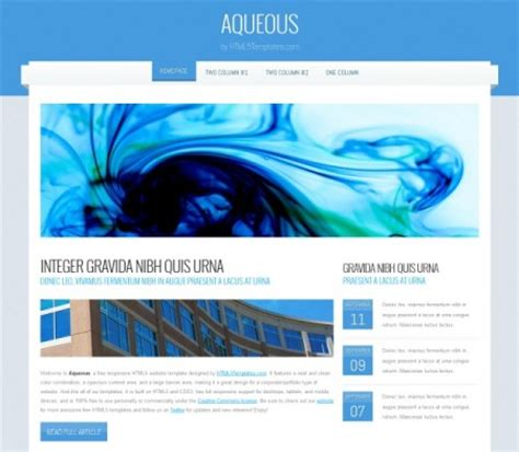 html layout free download 30 best responsive html5 css3 website templates 2015