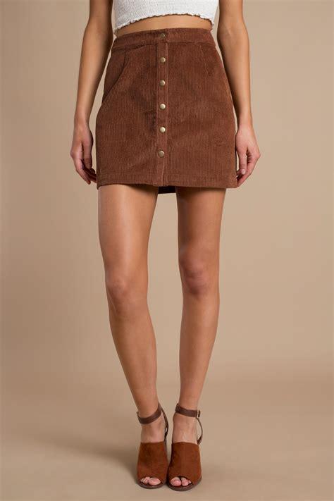 Rok Fashionable Cindia Navy Mini Skirt camel skirt a line skirt corduroy skirt camel