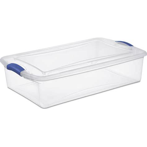 sterilite clear storage containers sterilite storage boxes set of 6 plastic wide shallow