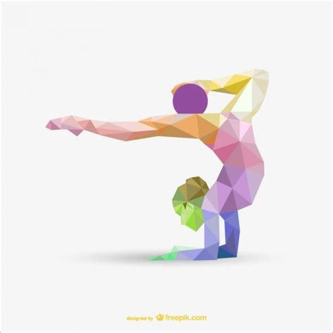 Origami Rhythmics - gymnastics vectors photos and psd files free