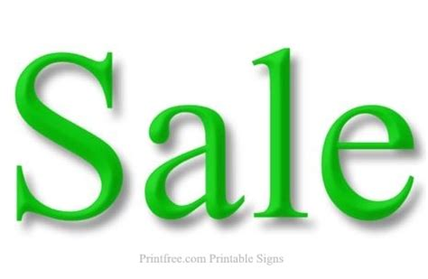 Green For Sale Sale Sign Green