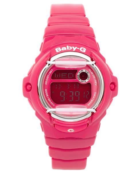 casio g shock baby g pink digital in pink lyst