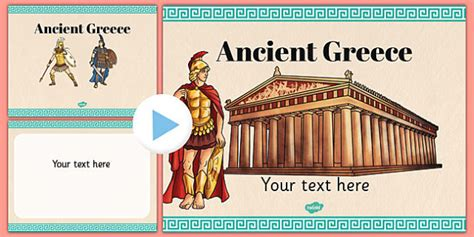 Ancient Greece Themed Powerpoint Template Ancient Greece Ppt Ancient Greece Powerpoint Template