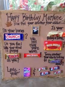 Candies bar poems 50th birthday funny gift ideas birthday ideas