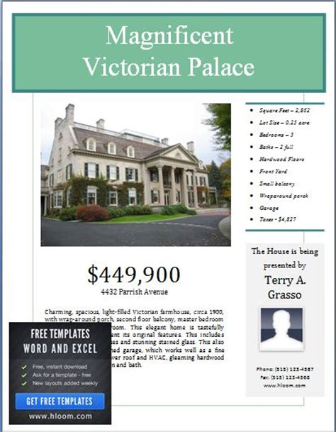 real estate poster template sle real estate poster template formal word templates