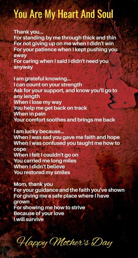 Mothers Day Poem Make You Cry Happy Mothers Day