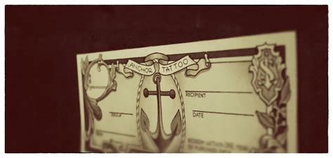 anchor tattoo gift certificates now available anchor tattoo