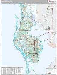 pinellas county florida zip code map pinellas county fl zip code wall map premium style by