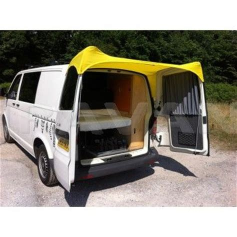 rear door van awnings barn door awning for vw t5 yellow awnings
