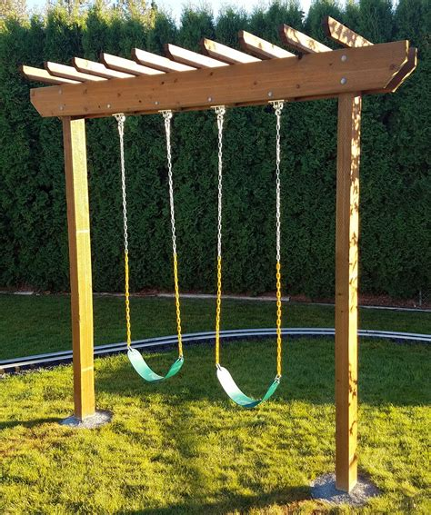 swing custom component pergola swing set outdoor goods
