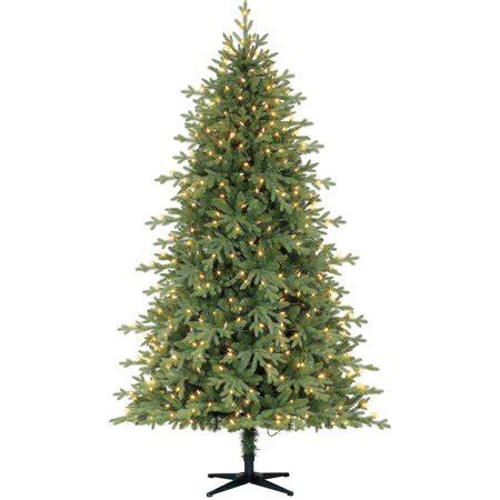 time pre lit 7 5 linden fir artificial tree led clear lights walmart