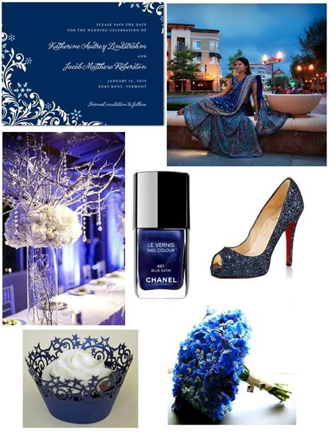 Midnight Blue Inspiration Board   Asian Wedding Ideas