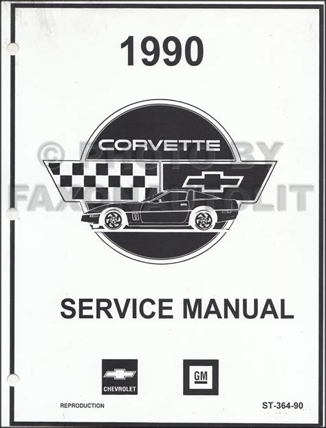 auto repair manual online 1958 chevrolet corvette electronic throttle control 1990 corvette repair shop manual factory looseleaf reprint