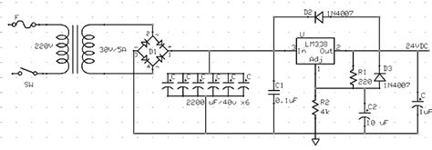 24v 5a power supply circuit diagram 2 diodes in parallel 24v 5a supply