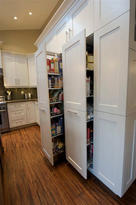 Kitchen Design Calgary by Pull Out Pantry Evolve Kitchens