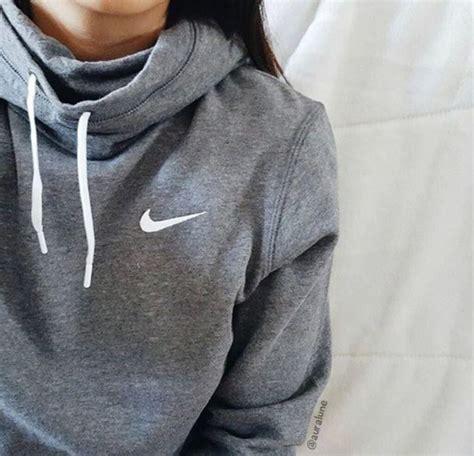 Jaket Sweater Hoodie White Sweater Nike Jacket Grey White Hoodie Crewneck